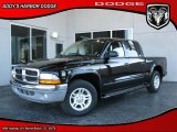 2003 Black Dodge Dakota SLT Quad Cab #26743874