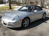 2007 Arctic Silver Metallic Porsche 911 Carrera Cabriolet #26743881