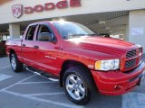 2005 Flame Red Dodge Ram 1500 SLT Quad Cab 4x4 #26744121