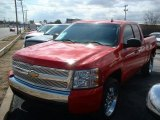 2007 Victory Red Chevrolet Silverado 1500 LS Extended Cab #26744131