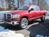 2006 Inferno Red Crystal Pearl Dodge Ram 1500 SLT Quad Cab 4x4 #26744153