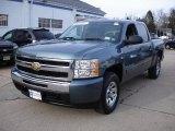 2009 Blue Granite Metallic Chevrolet Silverado 1500 LT Crew Cab 4x4 #26743958