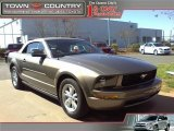 2005 Mineral Grey Metallic Ford Mustang V6 Deluxe Convertible #26773089