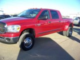 2007 Inferno Red Crystal Pearl Dodge Ram 3500 SLT Mega Cab 4x4 Dually #26778495