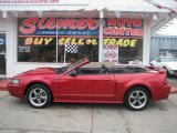 2001 Laser Red Metallic Ford Mustang GT Convertible #26778210