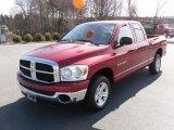 2007 Inferno Red Crystal Pearl Dodge Ram 1500 SLT Quad Cab #26778592