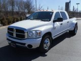 2007 Bright White Dodge Ram 3500 SLT Mega Cab Dually #26778593