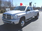 2008 Bright Silver Metallic Dodge Ram 3500 Big Horn Edition Quad Cab 4x4 Dually #26778612