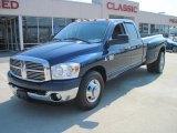 2007 Patriot Blue Pearl Dodge Ram 3500 Lone Star Quad Cab Dually #26778295