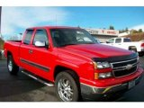2007 Victory Red Chevrolet Silverado 1500 Classic Z71 Extended Cab 4x4 #26778443
