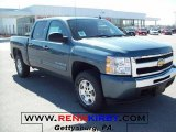 2010 Blue Granite Metallic Chevrolet Silverado 1500 LT Crew Cab 4x4 #26778322