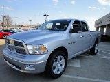 2010 Bright Silver Metallic Dodge Ram 1500 Big Horn Quad Cab 4x4 #26832423