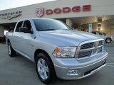 2010 Bright Silver Metallic Dodge Ram 1500 Big Horn Crew Cab 4x4 #26832424