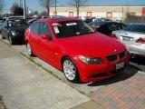 2006 Electric Red BMW 3 Series 330i Sedan #26831979