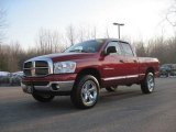 2007 Flame Red Dodge Ram 1500 Big Horn Edition Quad Cab 4x4 #26832481