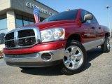 2007 Inferno Red Crystal Pearl Dodge Ram 1500 SLT Quad Cab #26881486