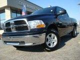 2009 Brilliant Black Crystal Pearl Dodge Ram 1500 SLT Quad Cab 4x4 #26881493