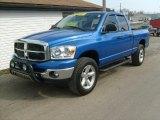 2007 Electric Blue Pearl Dodge Ram 1500 SLT Quad Cab 4x4 #26881650