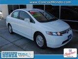 2007 Taffeta White Honda Civic Hybrid Sedan #26881374