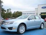 2010 Light Ice Blue Metallic Ford Fusion Hybrid #26881533