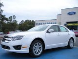 2010 White Platinum Tri-coat Metallic Ford Fusion SEL V6 #26881534