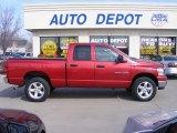2007 Inferno Red Crystal Pearl Dodge Ram 1500 SLT Quad Cab 4x4 #26881547