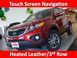 2011 Spicy Red Kia Sorento EX #26935442