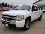 2009 Summit White Chevrolet Silverado 1500 LT Crew Cab 4x4 #26935450