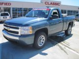 2008 Blue Granite Metallic Chevrolet Silverado 1500 Work Truck Regular Cab #26935674