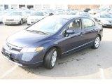 2007 Royal Blue Pearl Honda Civic LX Sedan #26935954
