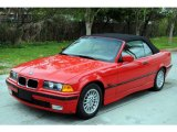 1996 Bright Red BMW 3 Series 328i Convertible #26996678
