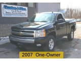 2008 Black Chevrolet Silverado 1500 Z71 Regular Cab 4x4 #26996684
