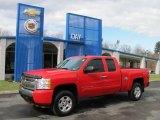 2008 Victory Red Chevrolet Silverado 1500 LT Extended Cab 4x4 #26996574