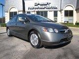 2007 Galaxy Gray Metallic Honda Civic Hybrid Sedan #27051495