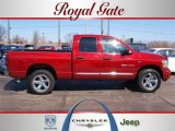 2007 Flame Red Dodge Ram 1500 Laramie Quad Cab 4x4 #27051310
