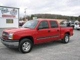 2005 Victory Red Chevrolet Silverado 1500 Z71 Crew Cab 4x4 #27051437