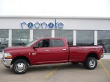 2010 Inferno Red Crystal Pearl Dodge Ram 3500 SLT Crew Cab 4x4 Dually #27071068