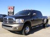 2009 Dark Khaki Pearl Dodge Ram 3500 Laramie Quad Cab 4x4 Dually #27071079