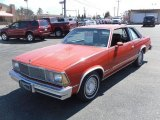 Red Chevrolet Malibu in 1980