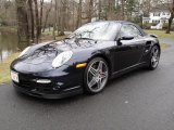2008 Midnight Blue Metallic Porsche 911 Turbo Cabriolet #27070960