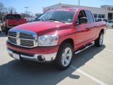2007 Flame Red Dodge Ram 1500 SLT Quad Cab #27113648