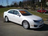 2010 White Platinum Tri-coat Metallic Ford Fusion Hybrid #27113363