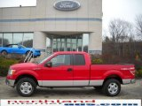 2010 Vermillion Red Ford F150 XLT SuperCab 4x4 #27113221