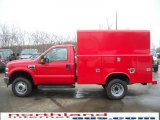 2010 Vermillion Red Ford F350 Super Duty XL Regular Cab 4x4 Chassis #27113224