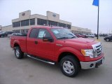 2010 Vermillion Red Ford F150 XLT SuperCab 4x4 #27113846