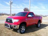 Radiant Red Toyota Tundra in 2010