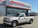 2004 Silver Birch Metallic Chevrolet Silverado 1500 Regular Cab 4x4 #27168911