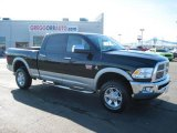 2010 Brilliant Black Crystal Pearl Dodge Ram 3500 Laramie Crew Cab 4x4 #27169335