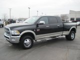 2010 Brilliant Black Crystal Pearl Dodge Ram 3500 Laramie Mega Cab 4x4 Dually #27169336