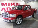 2008 Inferno Red Crystal Pearl Dodge Ram 1500 Big Horn Edition Quad Cab #27169056